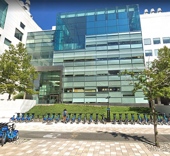 Street view of MIT Building 46